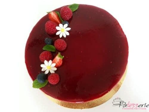 frambozen bavarois taart, patesserie.com