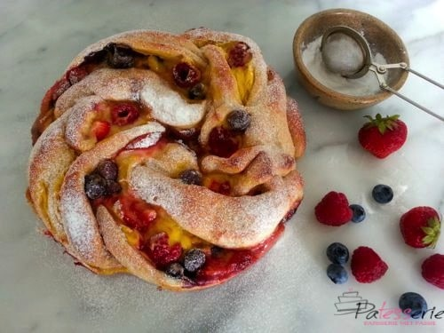 triple berry custard swirl bread, patesserie.com