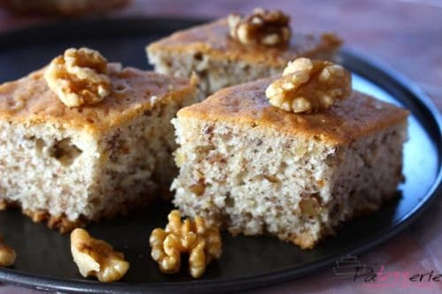 www.patesserie.com, recept, walnoten cake, Feliz, cake zonder boter
