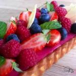 bosvruchten bavarois taart, patesserie.com