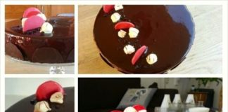 chocolade bavarois taart, praline, taart, patesserie.com