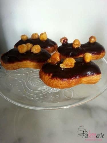 chocolade hazelnoot eclairs, www.patesserie.com
