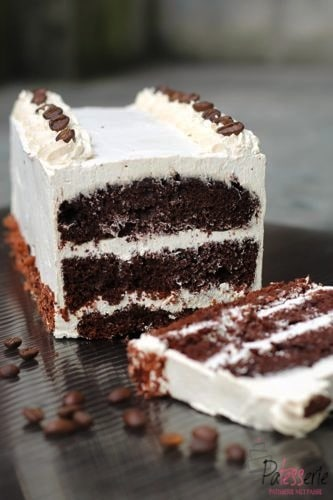 koffie chocolade cake, patesserie.com