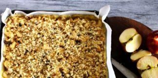 Appel plaat taart met walnoten, patesserie.com