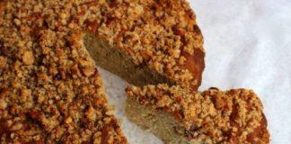 peren cake met kruimellaag, patesserie.com
