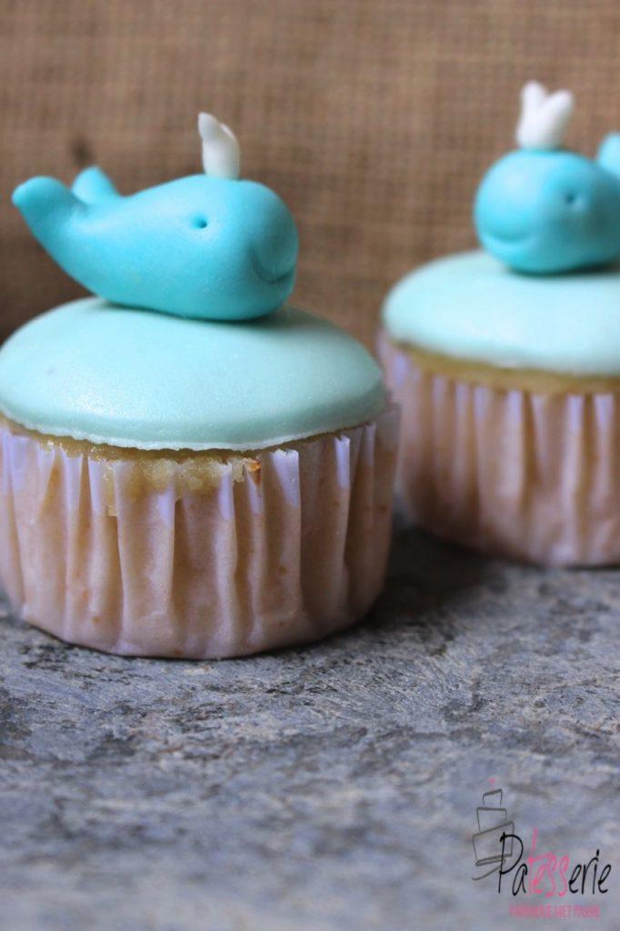 fondant walvissen, patesserie.com, cupcakes