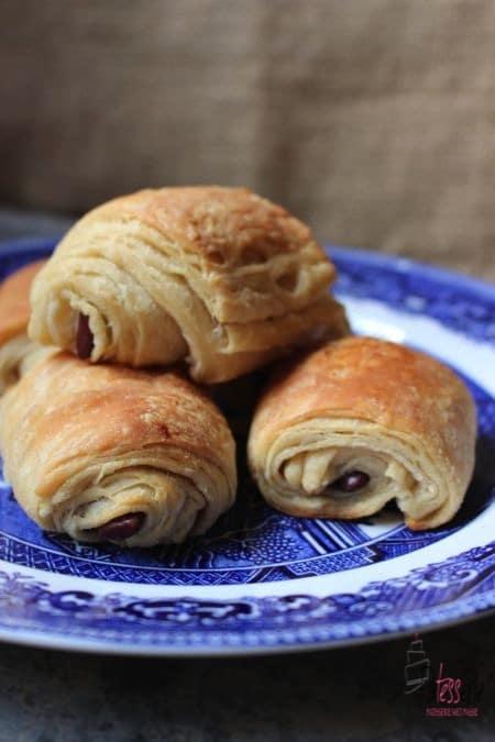 patesserie, pain au chocolat, croissantdeeg