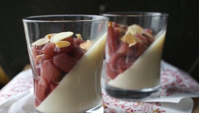 Zuivelvrij- en glutenvrij Pannacotta dessert met Stoofpeer, patesserie.com, dessert