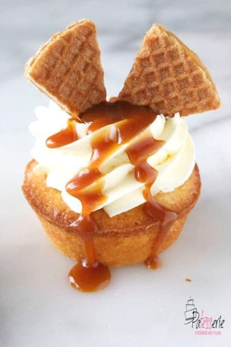 stroopwafel cupcakes, patesserie.com, rudolph en de jonge bakkers, bakken met kinderen