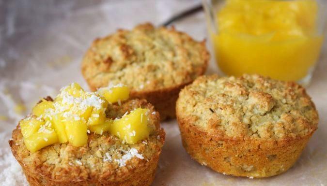 Kokosmuffins met mango (zonder suiker), patesserie.com, suikervrij
