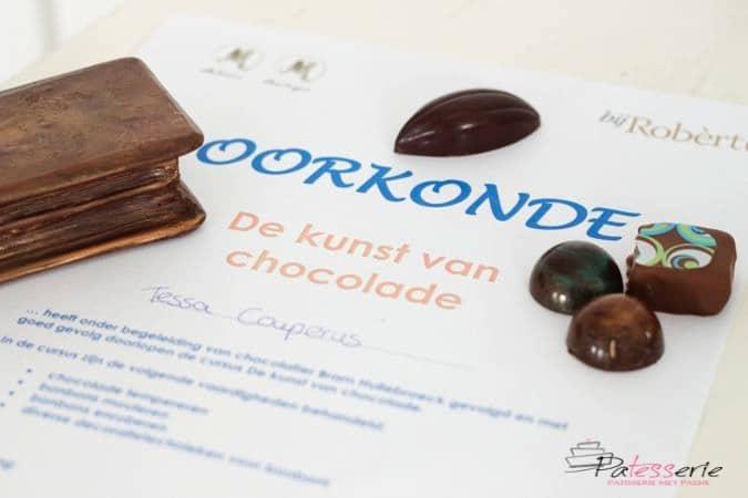 de kunst van chocolade, bij Robert, patesserie.com, chocoladeworkshop, bram hullebroeck