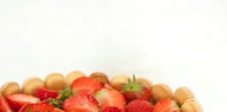Aardbeien Yoghurt Charlotte, patesserie.com