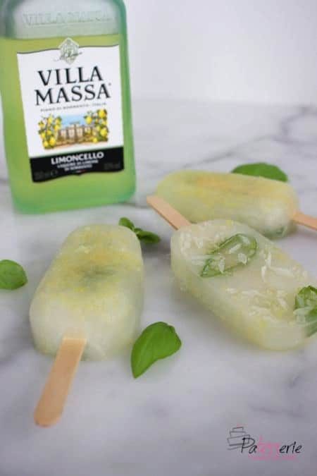 Limoncello basilicum ijsjes