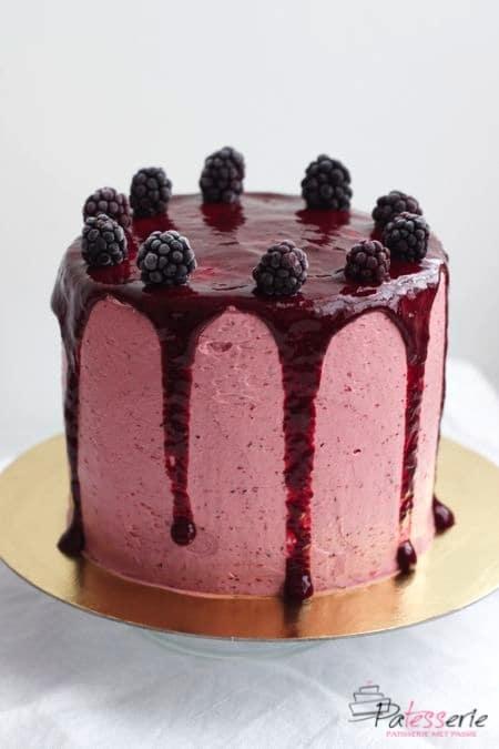 gestreepte bramentaart, sweet, ottolenhi, patesserie.com