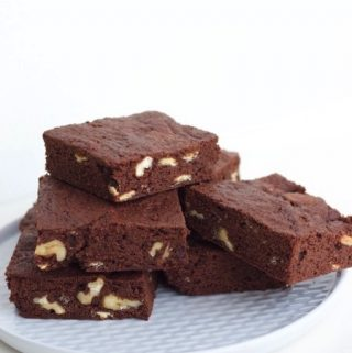 Brownies met walnoten en witte chocolade, en op stap met een personal shopper