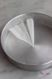 ronde bakvorm met bakpapier bekleden, patesserie.com, baktip