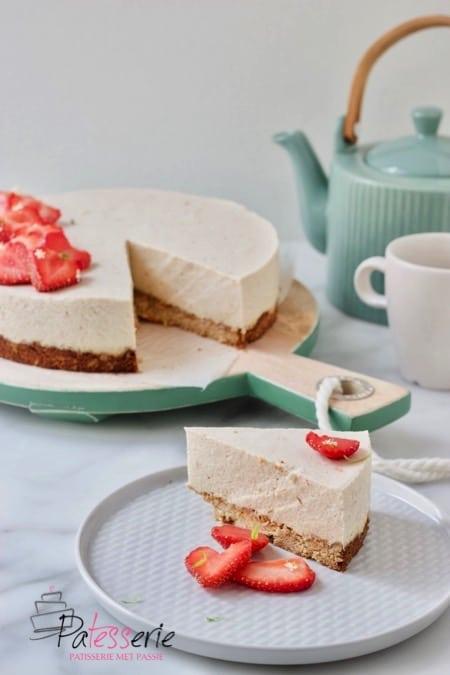 rabarber bavarois taart, patesserie.com