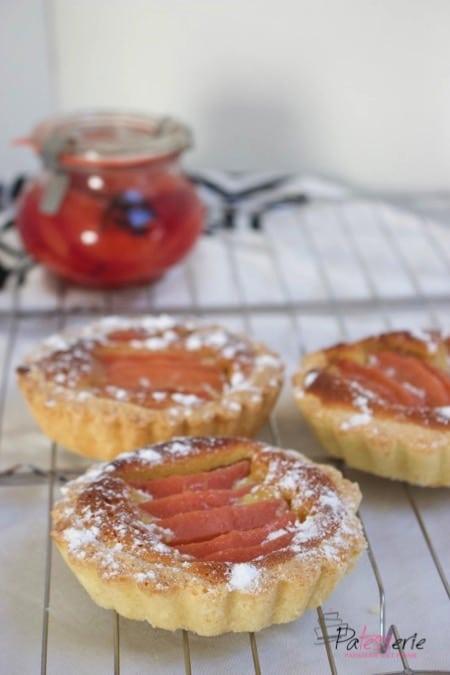 kweepeer taartjes met amandel, patesserie.com