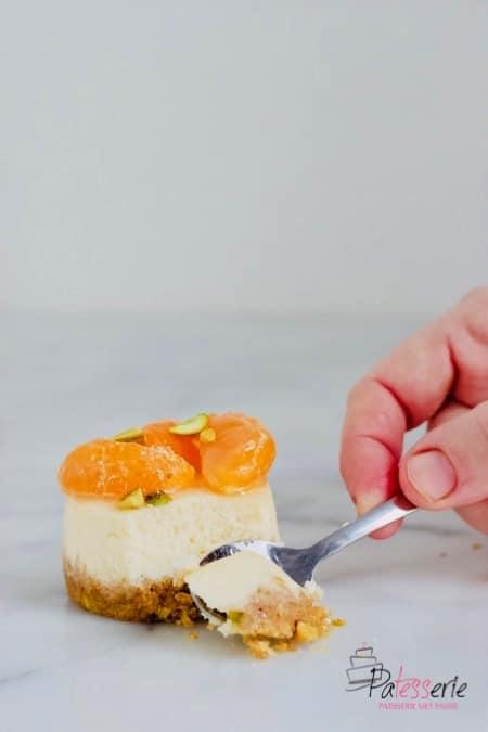 cheesecake met mandarijn, patesserie.com