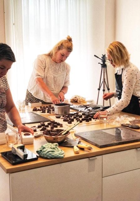 kadotips voor chocoladeliefhebbers, workshop chocolade