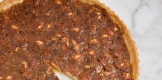notentaart met karamel