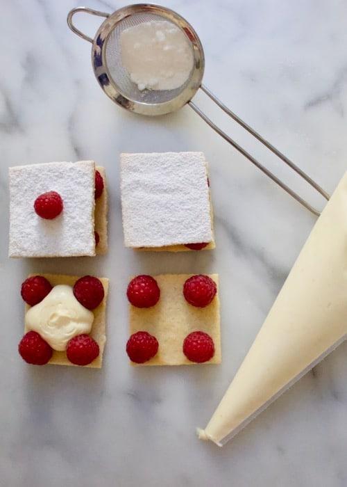 Mini frambozen taartje, stap voor stap foto