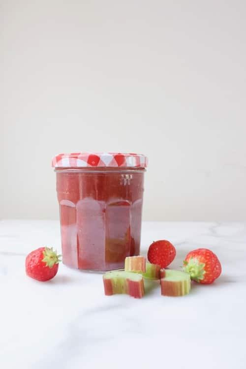 aardbeien rabarberjam