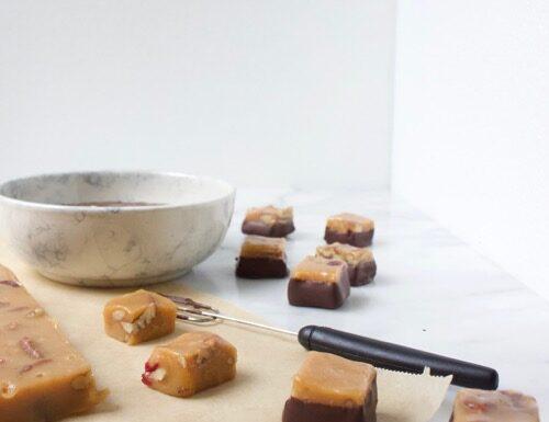 Salted Caramel blokjes maken voor bonbons