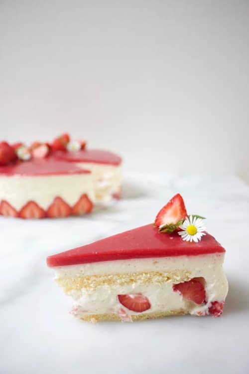 Luchtige fraisier taart