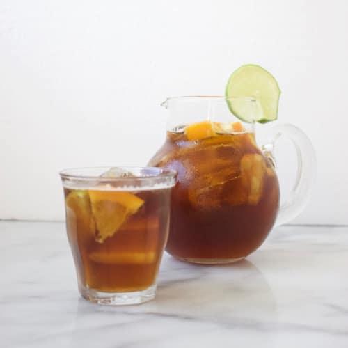 Cold brew koffie met ginger ale