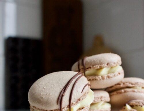 chocolade-macarons-met-koffie-vulling