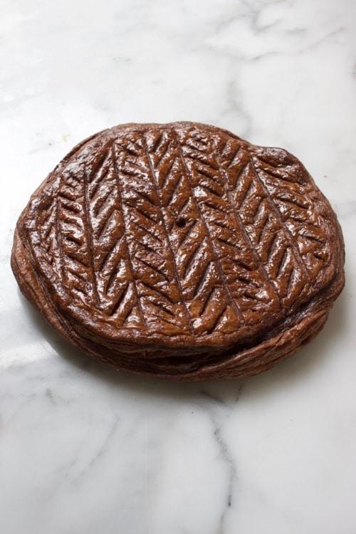 Driekoningentaart met chocolade en hazelnoot vulling