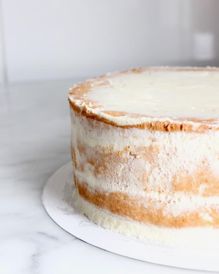Afgesmeerde taart