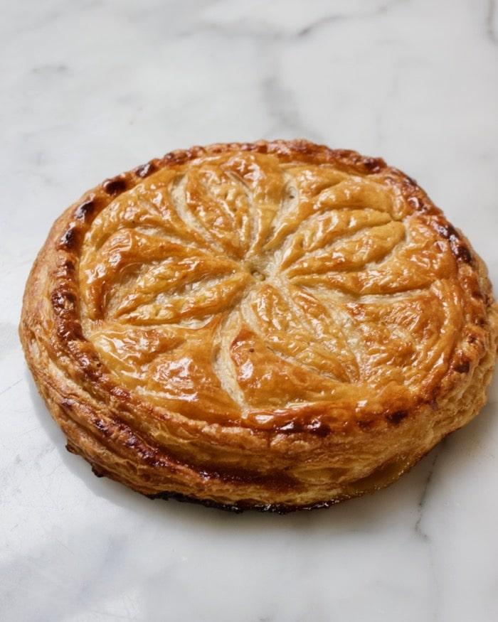 pithivier taart met appel en honing