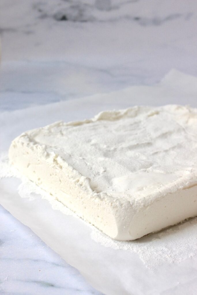 marshmallow basis recept, een blok marshmallow