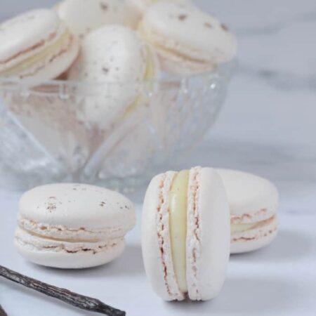 vanille macarons maken